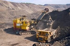 mining machinery at work