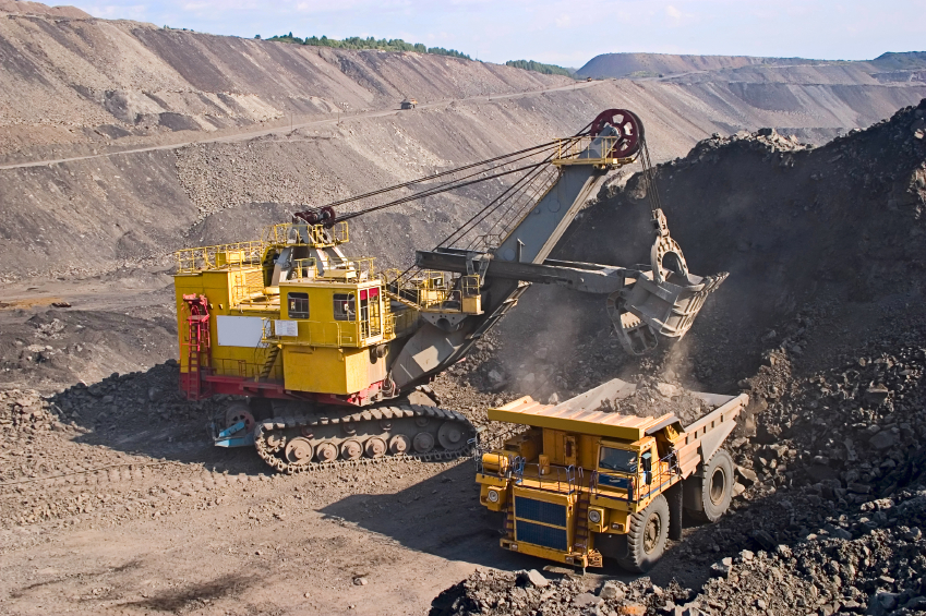 mining machinery at work
