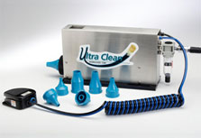 Ultra Clean Bench Mount Launcher and 7 hose nozzles for cleaning hose & assemblies