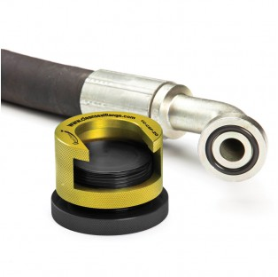 Yellow clean seal flange with flanged hose assembly - 1