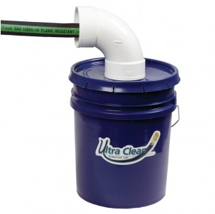 5-Gallon bucket with special angled opening for catching used projectiles