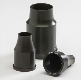 "Durable aluminum nozzles for cleaning hose, hose assemblies, and pipe applications through 2"" ID"