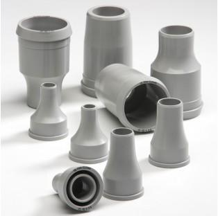 Grey colored machined nozzles for cleaning metric tubing