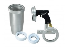 "Launcher kit with Aluminum nozzle for cleaning up to 4.5"" ID applications"